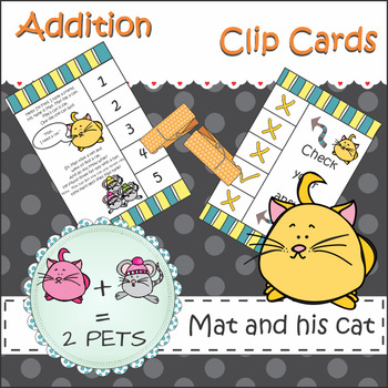 Add One to Teach Numbers 1 to 10 Clip It Cards