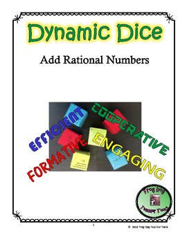 Add Rational Numbers Dynamic Dice