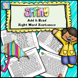 Sight Word Sentences Add and Read for Spring