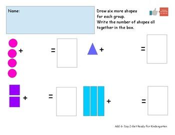 Add Six Worksheet Pack