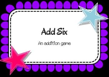 Add Six - addition dice game