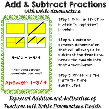 how to add three fractions with different denominators