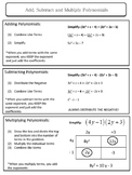 Coordinate Algebra Review Sheets