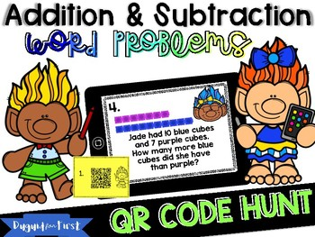Addition & Subtraction Word Problems~ Digital Math Station using QR Codes!