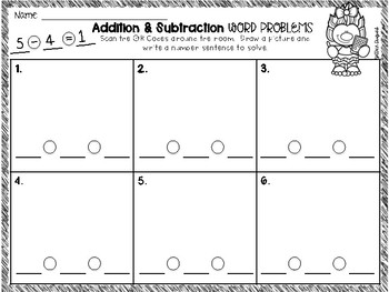 Addition & Subtraction Word Problems~ QR Code Hunt!