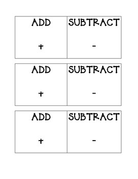 Add Subtract Cards