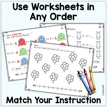 addition subtraction worksheets with number lines add subtract color. Black Bedroom Furniture Sets. Home Design Ideas