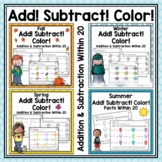 Addition and Subtraction Worksheets to 20 -  Year Long Bundle
