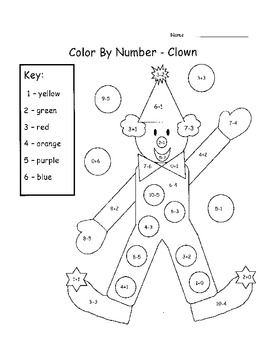 Add & Subtract Color By Number