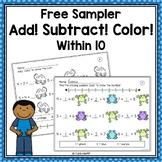 FREE Addition & Subtraction Within 10 Worksheets - Sampler!