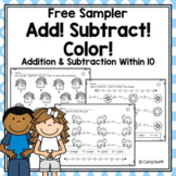 FREE Addition & Subtraction Within 10 Worksheets