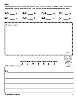 Add, Subtract, Count, Doodle and Write! Sampler Freebie