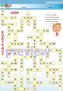 Add & Subtract Crossword