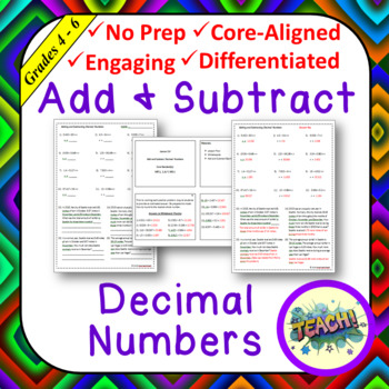 Add & Subtract Decimal Numbers