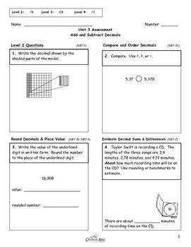 Add & Subtract Decimals