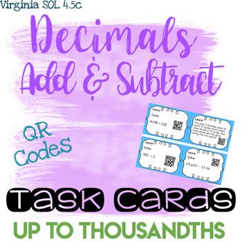 Add/Subtract Decimals