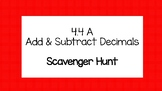 Add/Subtract Decimals Circuit/Scavenger Hunt! NO PREP 4.4A TEKS 4th Grade!