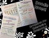 Add & Subtract Decimals - Decorated Notes Brochure for Interactive Notebooks