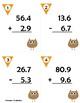 Add & Subtract Decimals - fall edition