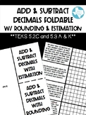 Add & Subtract Decimals with Rounding & Estimation (TEKS 5