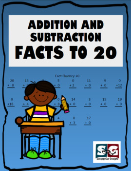 Add Subtract Fact Fluency to Sums of 20