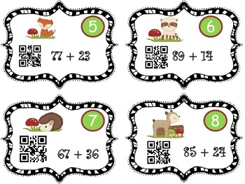 Add & Subtract Fall Critters ( Decompose, Number line, Place Value Strategy)