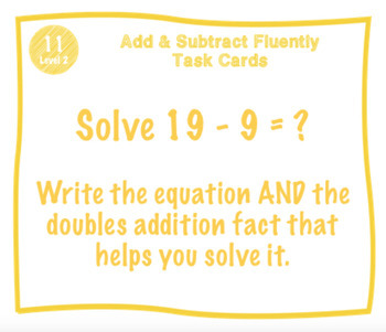Add and Subtract Fluently Task Cards