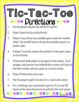 Add and Subtract Fluently Tic-Tac-Toe Game