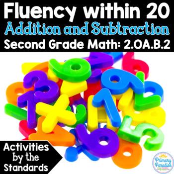 Add & Subtract Fluenty to 20: 2.OA.B.2 Common Core Math