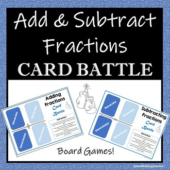 Add & Subtract Fractions - 2 Board Games