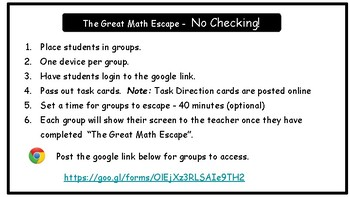 The Great Math Escape - Add & Subtract Fractions