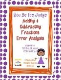 Add & Subtract Fractions Error Analysis Gr 5/6