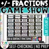 Add & Subtract Fractions Game Show PowerPoint Review Game
