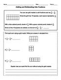 Add & Subtract Fractions: Like Denominators