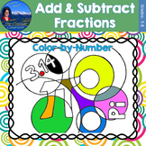 Adding and Subtracting Fractions | Pi Day Math Color by Number