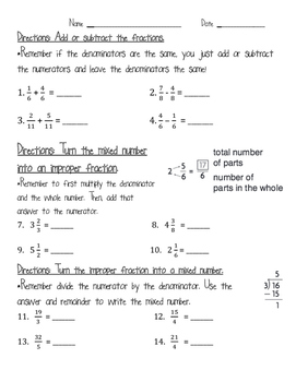 add  subtract fractions mixed numbers  improper fractions  originaljpg