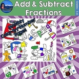 Add & Subtract Fractions Monthly Color by Number Bundle