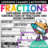 Math Task Cards - Fractions - Adding & Subtracting Fractions
