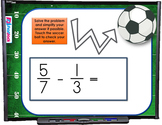 Add Subtract Fractions Different Denominators SMART BOARD