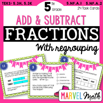 Add & Subtract Fractions: Word Problems with Regrouping TE