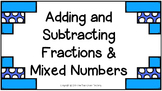 Add & Subtract Fractions and Mixed Numbers Power Point Pre