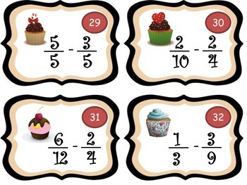 Add & Subtract Fractions (Fraction Cup Cakes!)