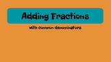 Add & Subtract Fractions - like denominators