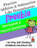 Add & Subtract Fractions like denominators Who Am I? Inventor Worksheet Freebie
