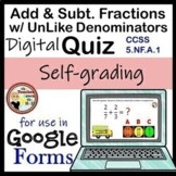 Add & Subtract Fractions with UNlike Denominators Google F