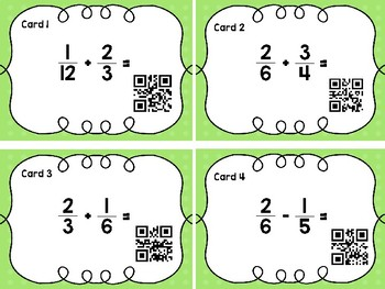 Add & Subtract Fractions with Unlike Denominators