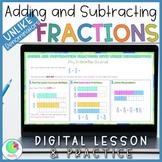 Add & Subtract Fractions with Unlike Denominators. Google Slides Activities.