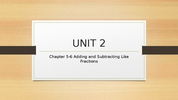Add/Subtract Like Fractions