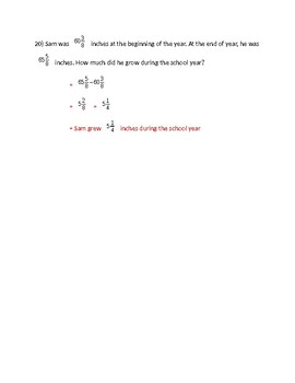 Add/Subtract Like Fractions Practice Problems