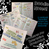 Add & Subtract Mixed Numbers - Decorated Note Brochure for Interactive Notebooks